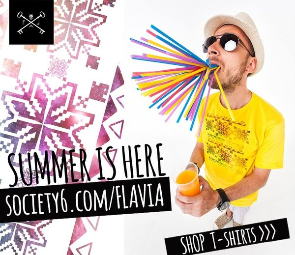 Summer is here! Cool off with some Fresh Tees :D http://society6.com/Flavia/Summer-is-here-Shop-Tees