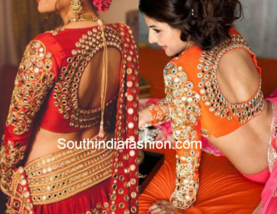 mirror_work_blouse_with_round_back_neck