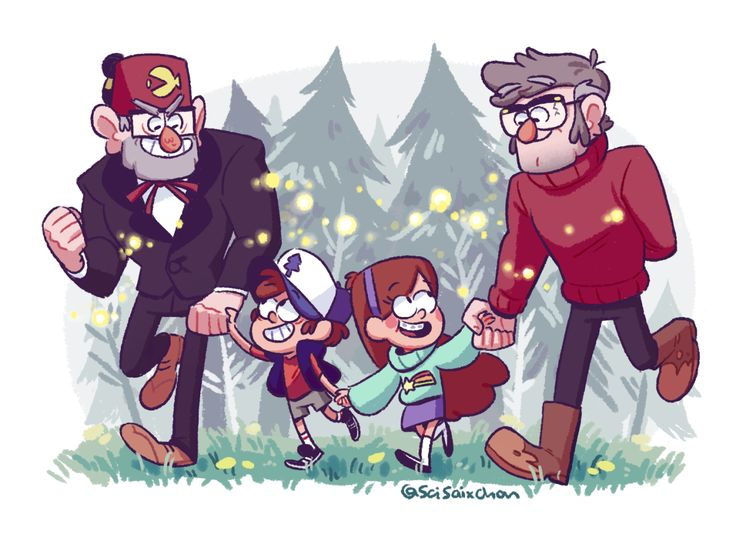 The Pines Family Just Taking A Walk Through The Woods Switched Up The  Colors To Mabelu0027s Sweater To Give The Piece A Bit More Color Variation  (also I Love ...