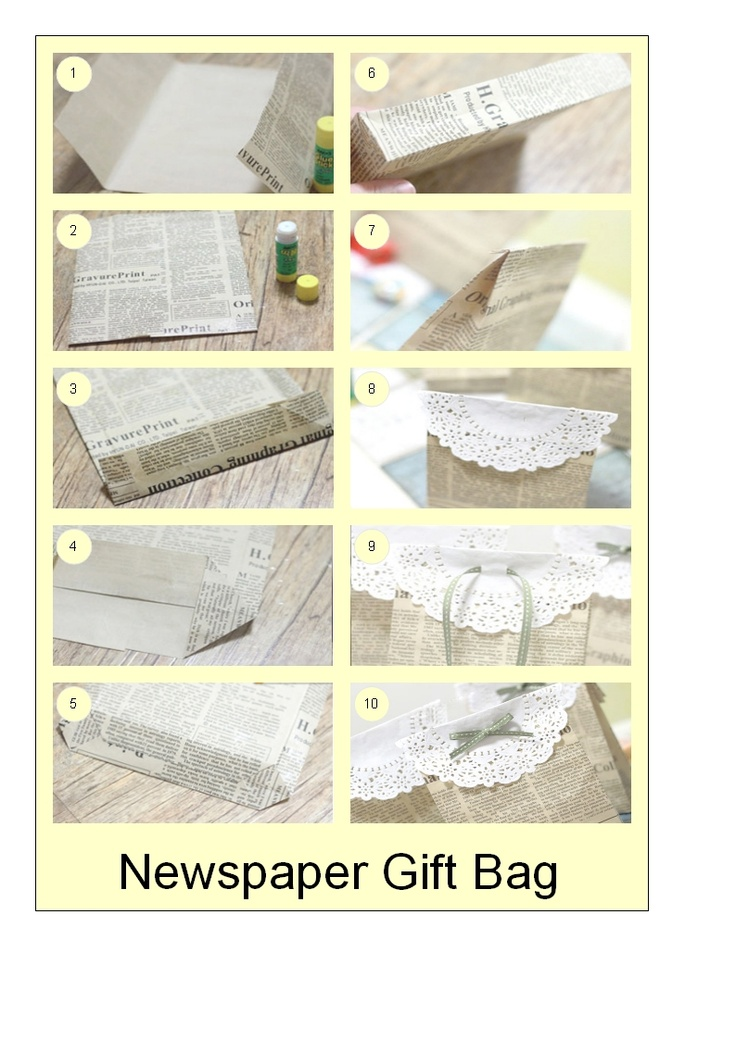 Newspapers Gift Bag ~ looking lovely so that people can take their gifts home safely from the Made by Manxies Craft Fayre in March