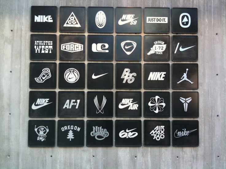 Nike logo mural, Santa Monica