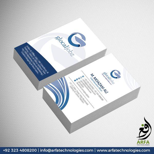 Glocal Jobz Business Card Design Business Card Design Cool Business Cards Custom Business Cards
