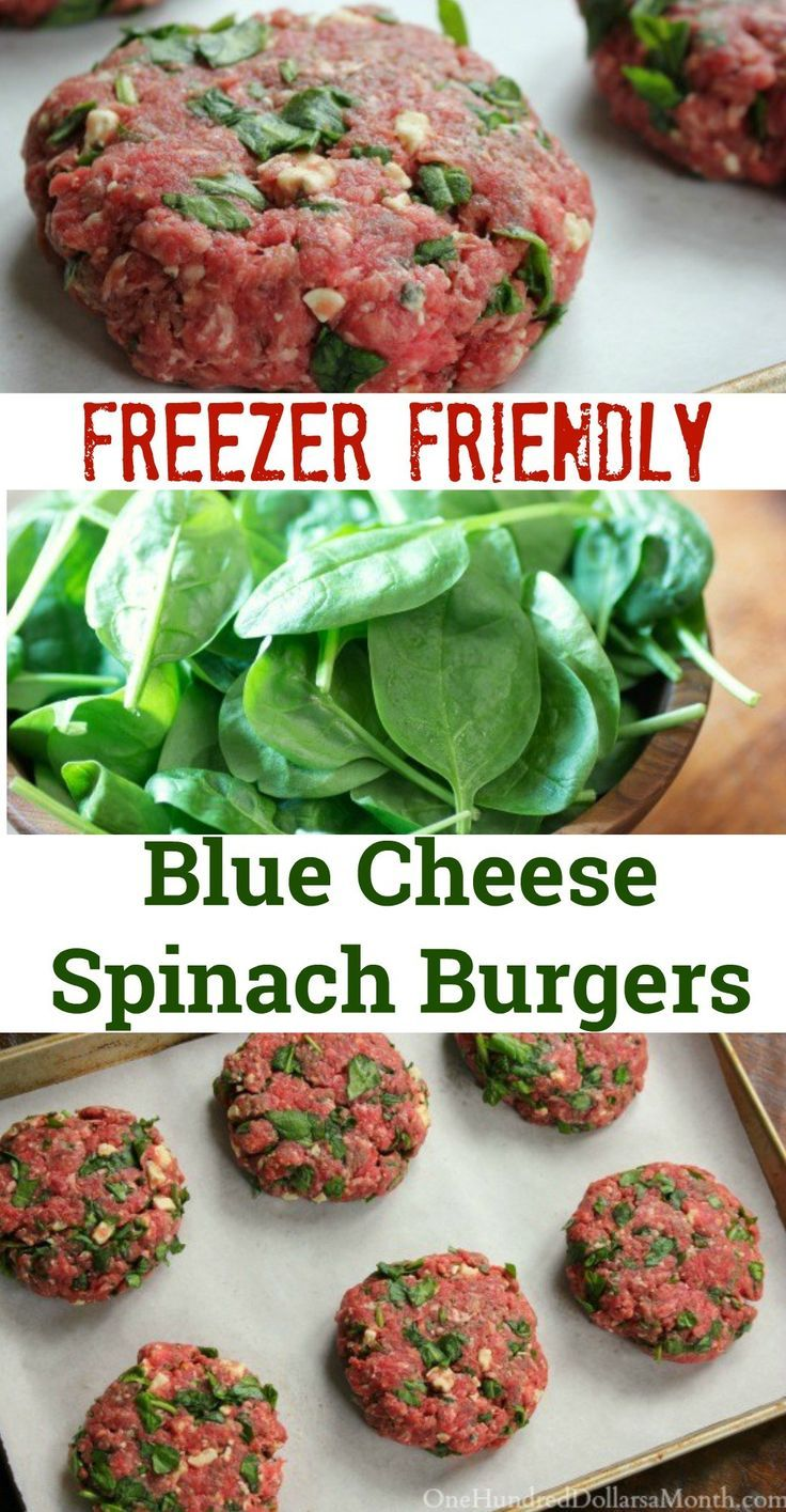 Freezer Meal, Blue Cheese Burgers, Healthy BBQ, Freezer Meals, Meal Prep