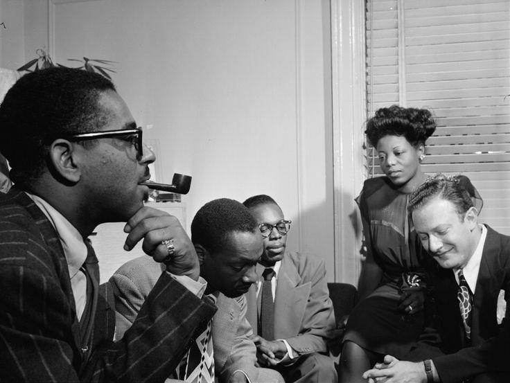 "steppingrazzor: "" Dizzy Gillespie, Tadd Dameron, Hank Jones, Mary lou Williams, Milt Orent. Ca.August 1947 """