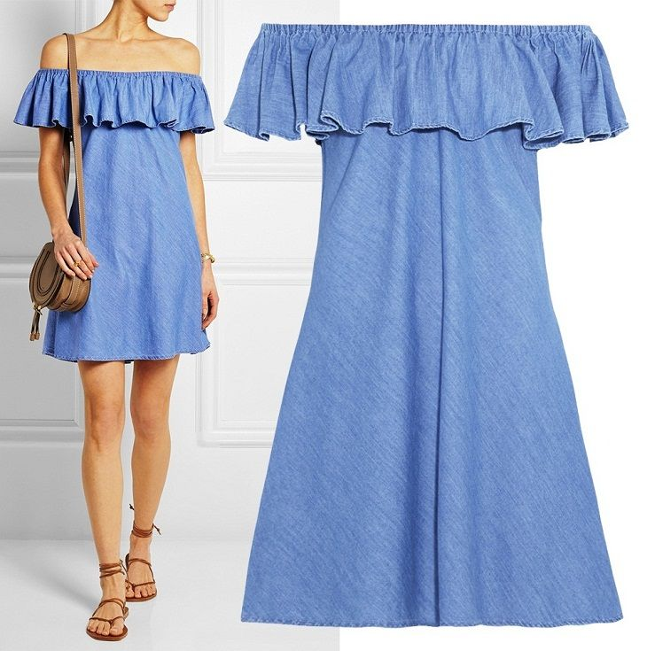 Джинсовое платье из италии