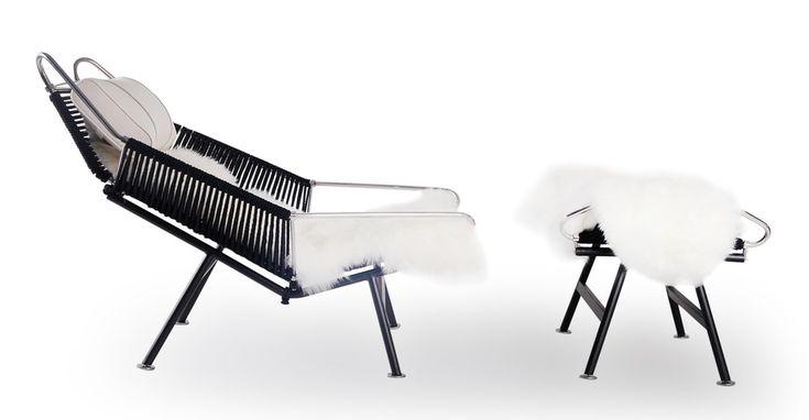 flag halyard chair and ottoman