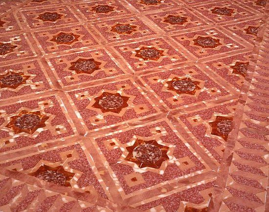 marble floor made of salami