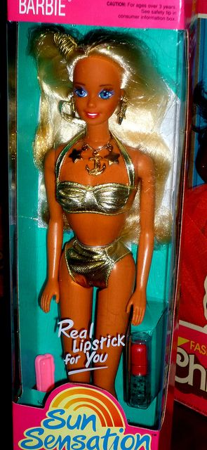Barbie Sun Sensation doll. I remember you, I remember your necklace. I just got taken back 20+ years...am I that old?