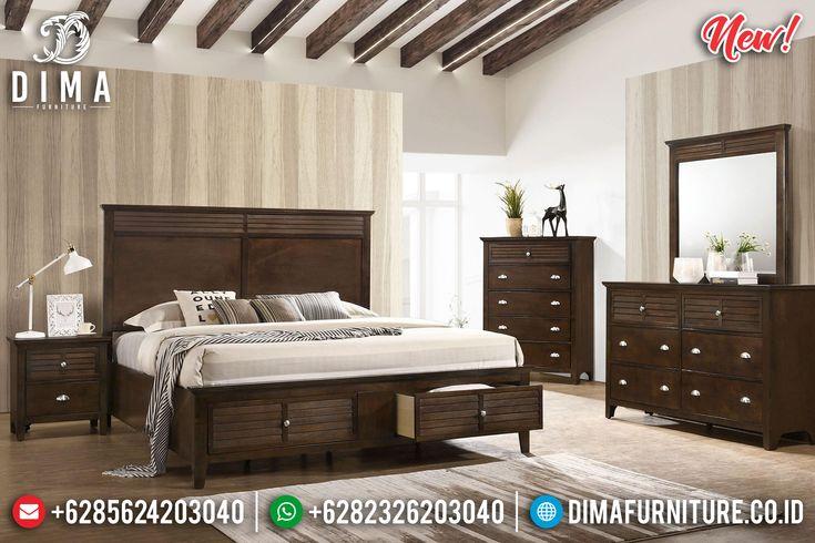 Set Tempat Tidur Minimalis Model Laci Jati Jepara Df 1017 Full Bed With Storage Bedroom Sets Queen Bedroom Sets For Sale Bedroom set queen cheap