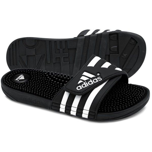 Adidas adissage Slides (40 CAD) ❤ liked on Polyvore featuring mens, men's shoes, men's sandals, shoes, sandals and adidas