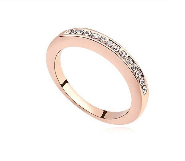 Роуз кольца мода ювелирных изделий с бриллиантами обручальное кольцо для женщин
