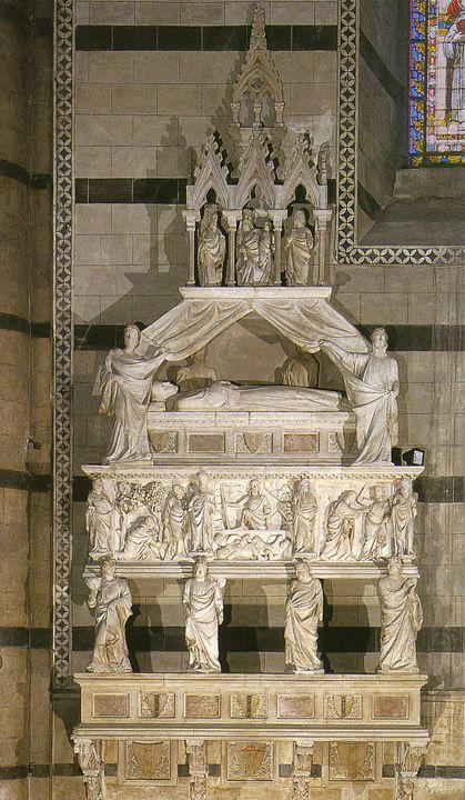 Tino da Camaino, Monumento funebre del Cardinal Petroni, 1318 circa, Duomo di Siena