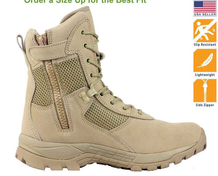 Maelstrom® LANDSHIP 8''  Military Tactical Police Duty Work Boots with Zipper | Clothing, Shoes & Accessories, Men's Shoes, Boots | eBay!