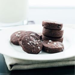 Espresso Shortbread Cookies, bite-sized, with bits of espresso beans ...