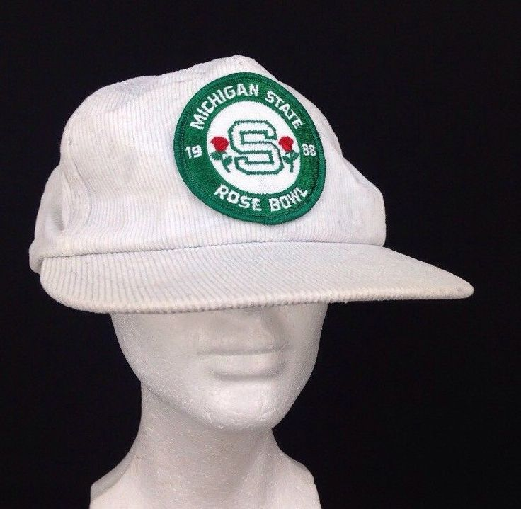 VIntage 1988 Michigan State NCAA Rose Bowl Game Championship Snapback Hat Cap #Speedway #MichiganStateSpartans
