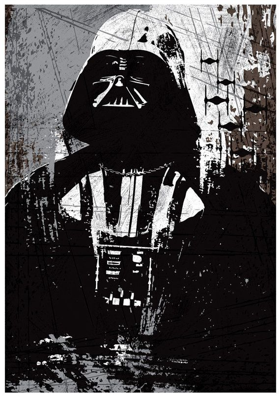 Star Wars Set de todo negro Darth Vader por Posterinspired en Etsy