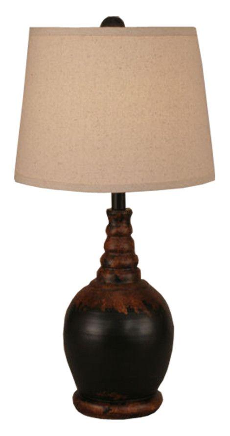 Aged Black Shade Table Lamp