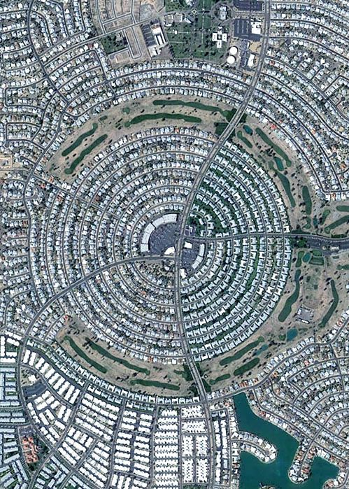 Land of Lost Content: A section of Sun City, Arizona, a retirement community near Phoenix, seen from above via Google Earth.