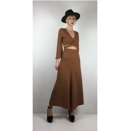Kahverengi Uzun Etek - Light Brown Long Skirt