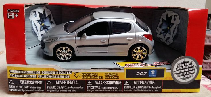 Peugeot 207 Hatchback 5 Doors Uni Fortune Toys Die Cast Miniature Scale 1/32 #UniFortuneToys #Peugeot