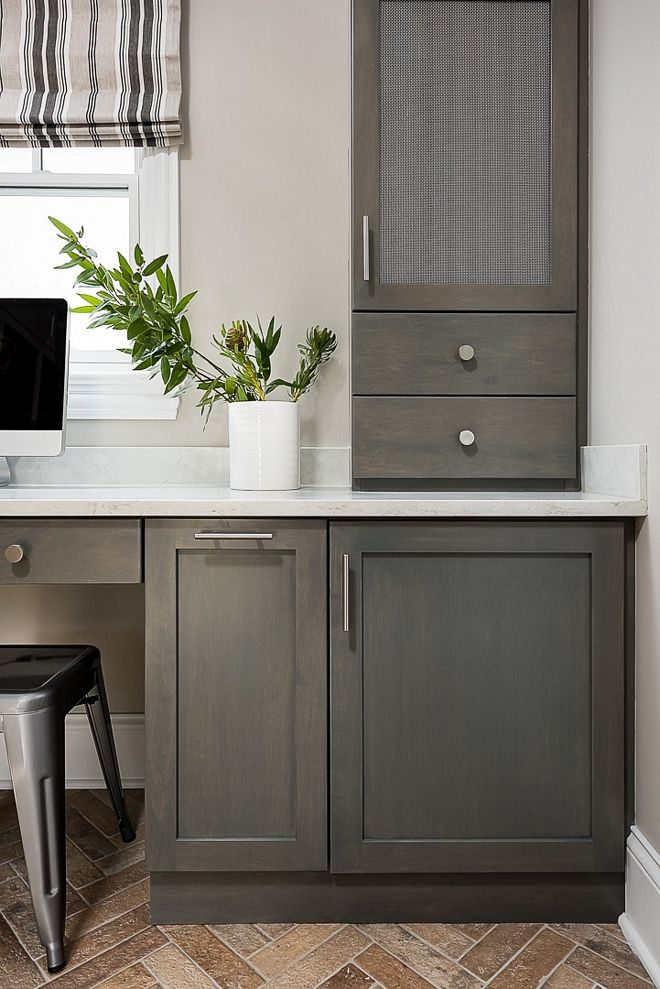The Cabinets Are Maple And Finished In A Weathered Grey Stain