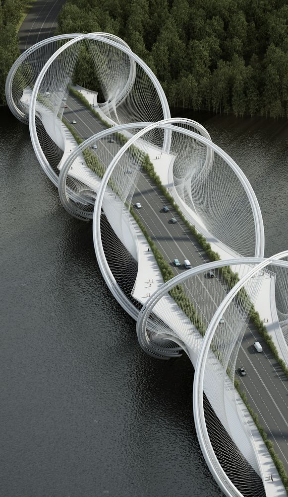 Gallery of Penda Designs Bridge Inspired by Olympics Rings for 2022 Beijing Winter Games - 4