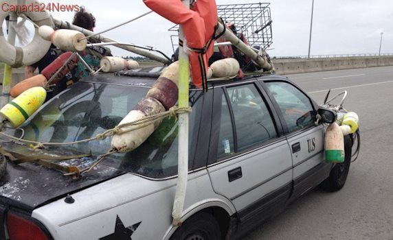 Catch o' the day: B.C. police impound car decked out with fishing gear