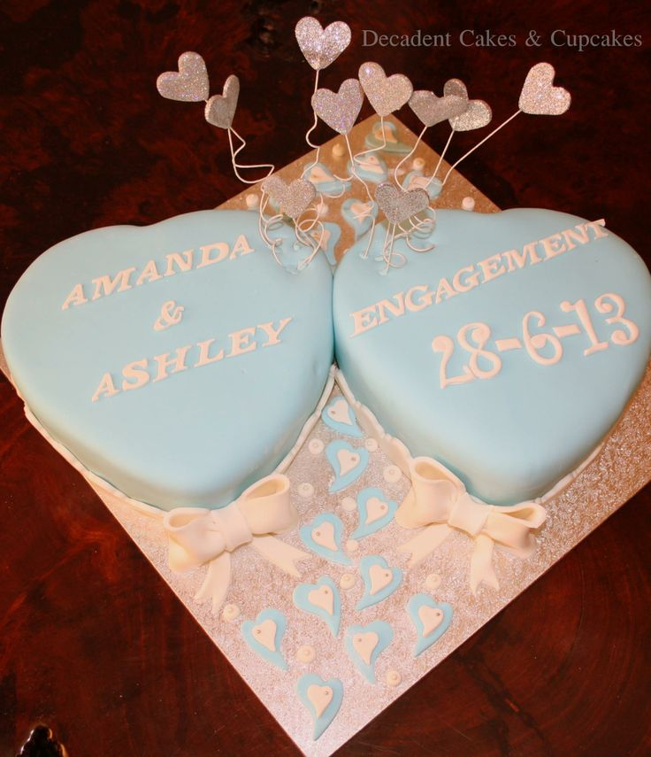<3 Engagement Cake <3 Made By Decadent Cakes & Cupcakes