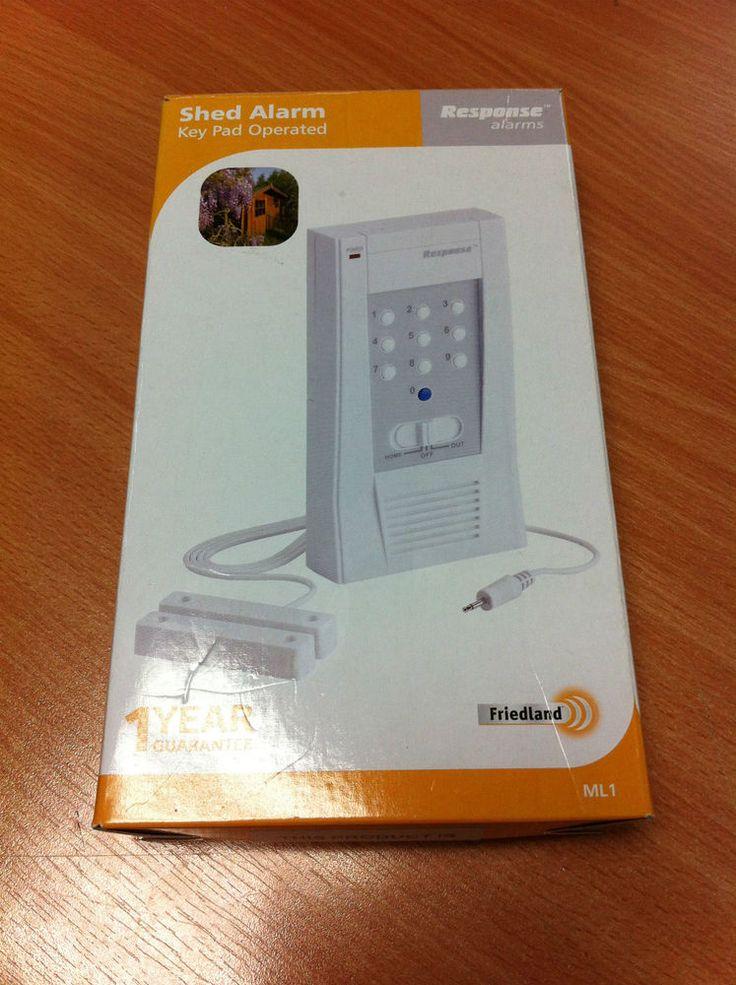 Friedland Response Alarms Key Pad Operated Shed Alarm Model ML1