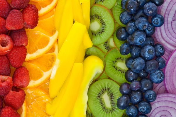 Fruit and veggie rainbow