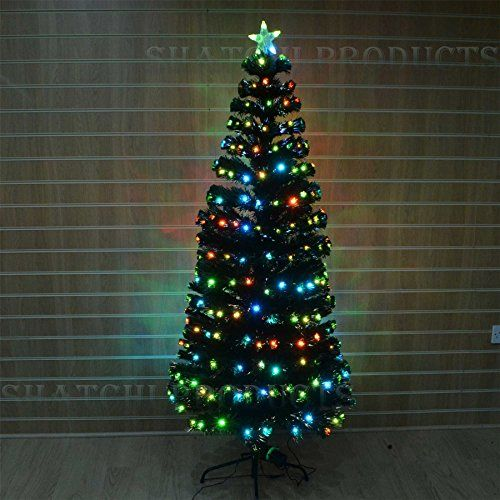 Fiber Optic Decorations Fiber optics have become common in decorating. Now fiber optic decorations are popular, and not just at Christmas time, although fiber optic Christmas trees are plentiful.  Original image on Amazon