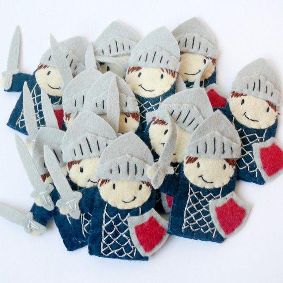Finger puppet knight.