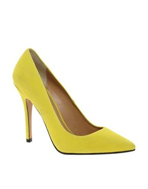 Whistles French 75 Yellow Court Shoes, so hot!,