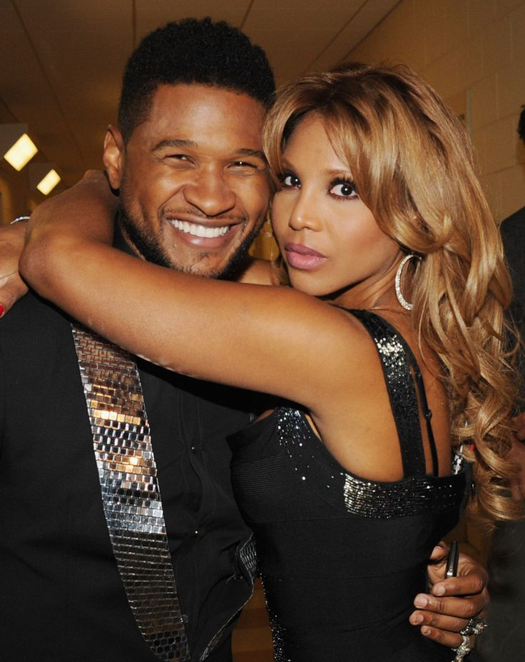 Usher and Toni Braxton at Georgia Music Hall of Fame Awards in 2011.