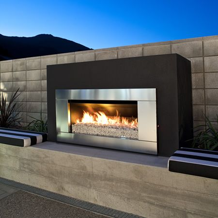 Escea EF5000 Outdoor Gas Fireplace - Stainless Steel Fascia