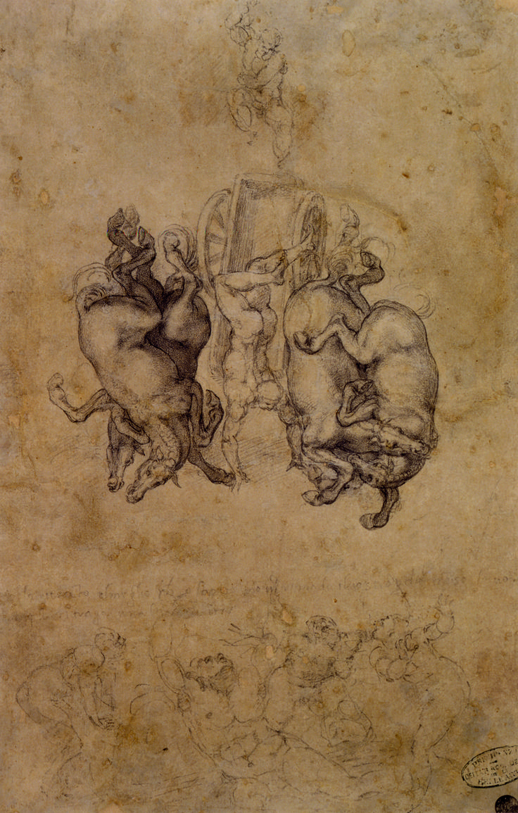 These rarely seen drawings on the chamber walls may have been created when the famed artist took refuge from the Medici family in 1530.
