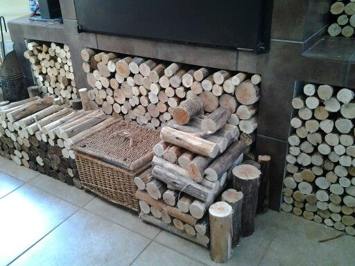 Packed the fire wood at the indoor braai area!