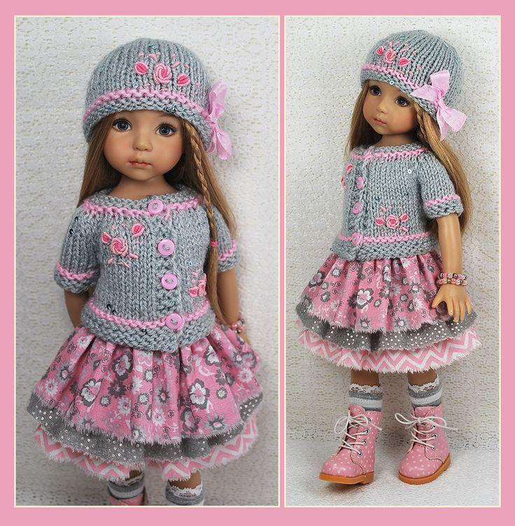 "OOAK Gray Pink Outfit for Little Darlings Effner 13"" Maggie Kate Create   eBay"