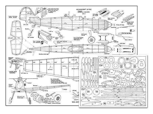 bf109E - plan thumbnail   RC Stuff   Model airplanes, Rc plane plans, Aircraft design
