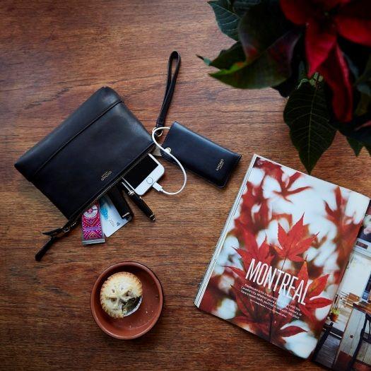 Idealny prezent dla pracujących kobiet, którym się wciąż rozładowuje telefon - torebka ładująca telefon z www.bag-a-porter.pl