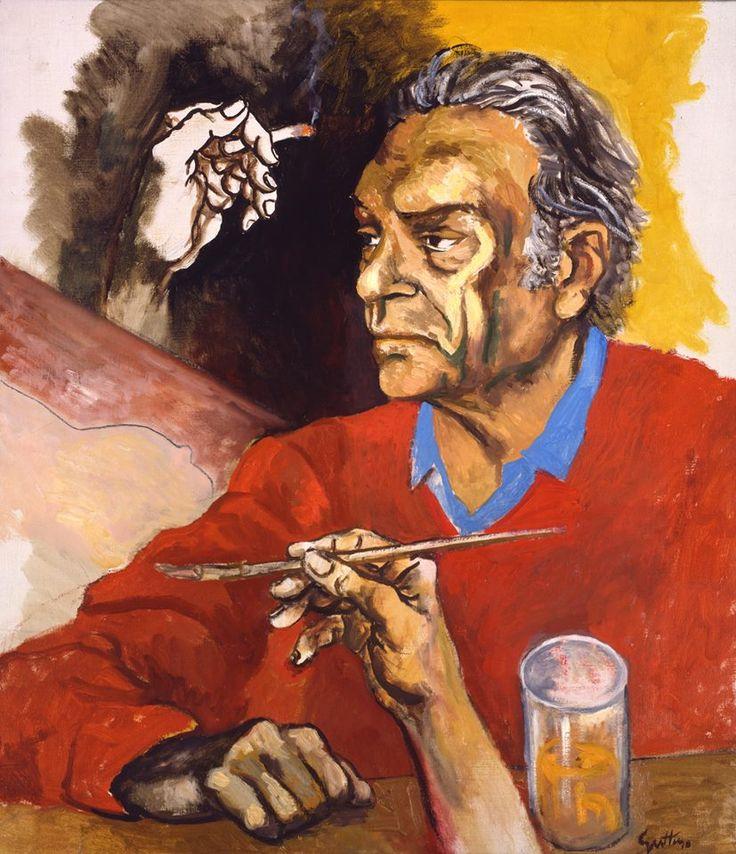 Autoritratto (Self-Portrait), 1975, by Renato Guttuso (Italian, 1912-1987)