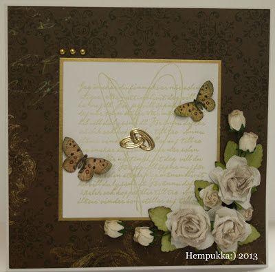 brown wedding card