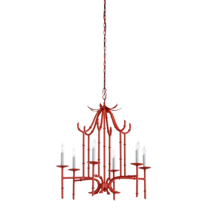 Draper Chandelier Red. Product 67151