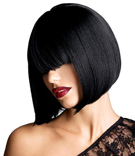 "Sale! AnotherMe Glossy Black Short Bob Wig 11.5"" Heat Res..."