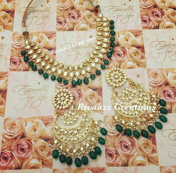 Wedding Jewellery, Jewellery Box, Indian Emerald Jewellery, Indian Wedding Jewelry Kundan, Indian Jewelry Sets Gold, Bridal Kundan Jewellery, Harjit Wedding …