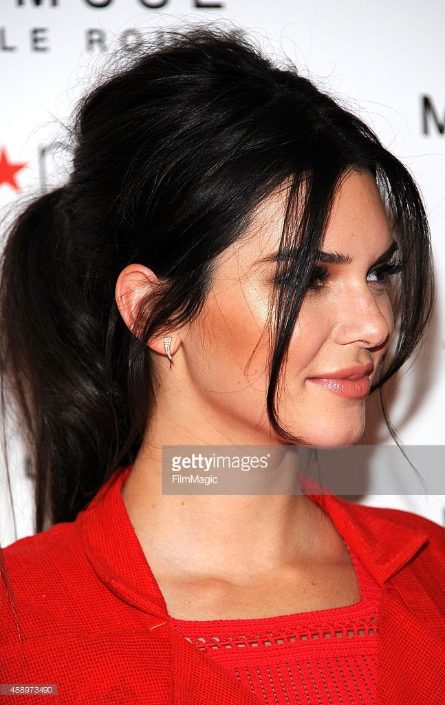 Model Kendall Jenner, hair detail, celebrates the launch of The New Estee Lauder Fragrance Modern Muse Le Rouge at Macy's Herald Square on September 18, 2015 in New York City.