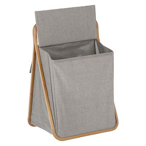 Buy John Lewis 2 Section Folding Laundry Hamper Online at johnlewis.com