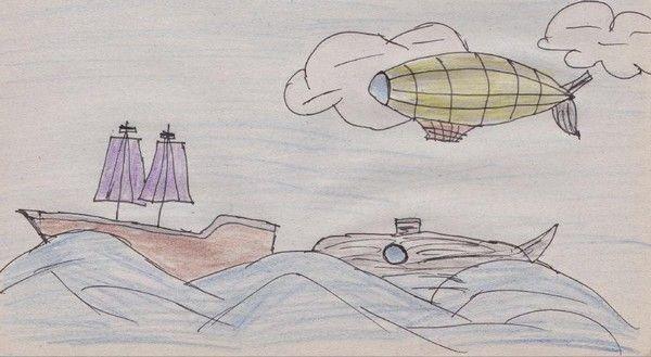 Jules Verne a jeho svět A5, fix a pastelky