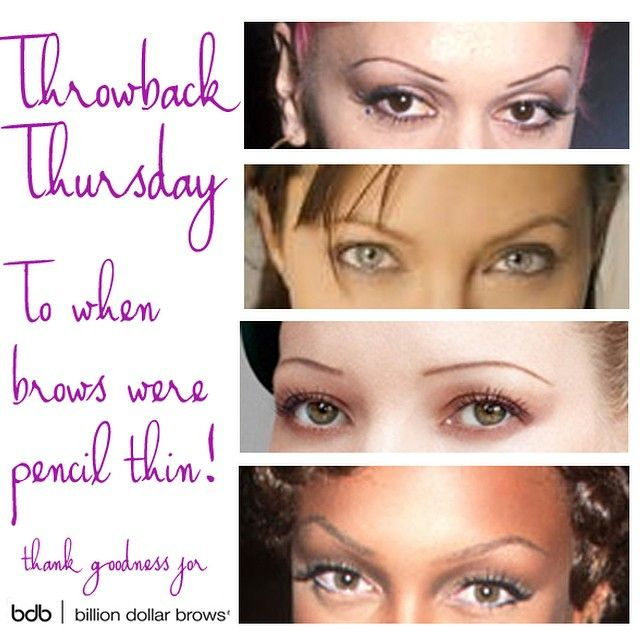 #throwbackthursday #tbt ahh! Pencil thin eyebrows...nothing a little bdb brow boost couldn't fix. #skinnybrows #brows #eyebrows #notbdbrows