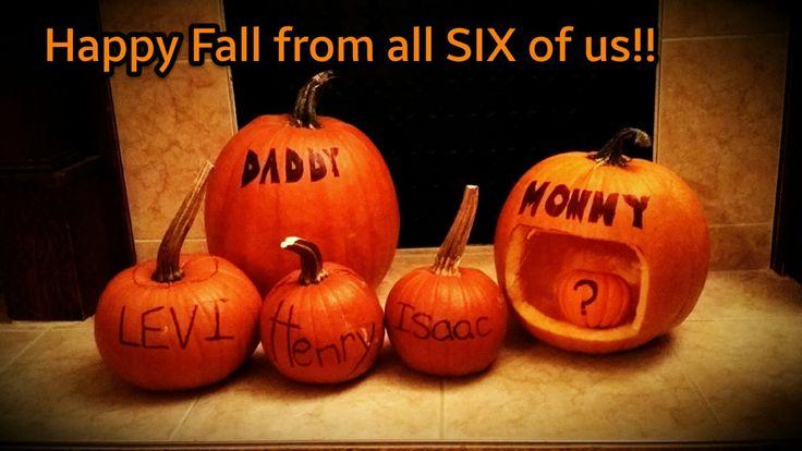 Fourth baby announcement; fall pregnancy; fourth kid; pregnancy announcement; expecting a new baby; another little pumpkin!